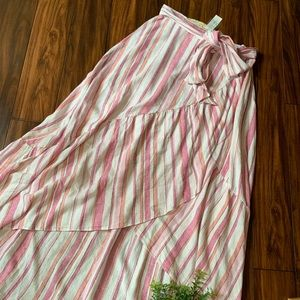 NY&C Soho Jeans linen high low asymmetrical skirt